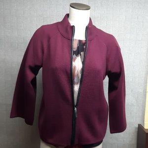 Jones New York Zip Front Sweater - EUC